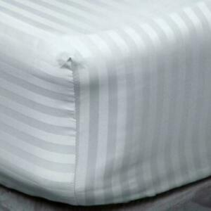 Extra Deep White Grey Fitted Sheet Egyptian Cotton Bed Sheets Double King Size