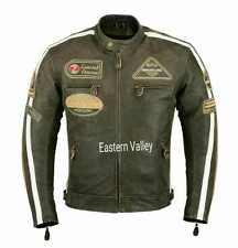 New American Classics Cracker Real Leather Motorcycle Racing Biker Jacket black