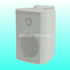 Adastra BP Series 8 Ohm or 100v Line Outdoor Wall Mounted Music Speakers White 4-inch 4