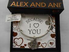 Alex and Ani Because I Love You MOM III Bracelet Rafaelian Silver NWTBC