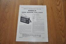 Stella ST431T AM Transistor Radios Genuine Service Sheet Manual