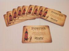 Porter Worthy Dark Brewed Yuengling Beer/Bar Coasters NEW Lot Of 10 HTF