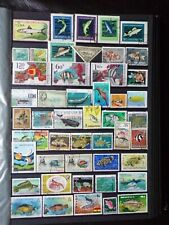 COLLECTION OF THEMED STAMPS: FISH MARINE LIFE