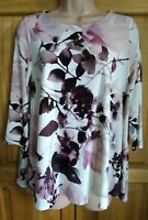 Ex Phase Eight Womens Mayumi Floral Leaf A Line Swing Blouse Pink Top 14