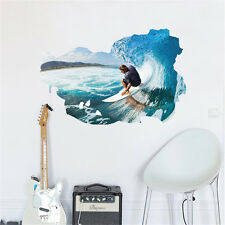 3D Sprots Surfing Home Bedroom Decor Removable Wall Sticker Decal Decorations