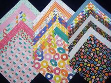 12x12 Scrapbook Paper Studio Treats Sweets Party Donuts Cupcakes Confetti 40 Lot