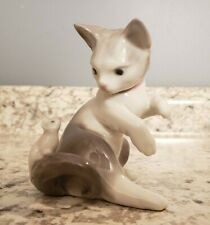 """Lladro #5236 Cat with Mouse on his Tail """"Retired"""""""