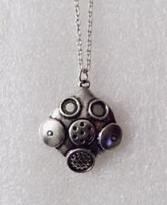 Doctor Who Inspired Gas Mask Metal Pendant Chain Necklace