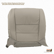 2007 Acura TL Driver Side Bottom Replacement Perforated Leather Seat Cover Gray