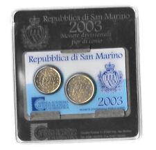 SAN MARINO MINI SET 20 & 50 EURO CENT 2003 KM#444, 445 UNC. B8