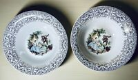 """Limoges American China d'Or Triumph Serving Bowls Set of 2 1T-S284 22K Gold 9"""""""