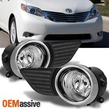 Fits 2011-2015 Toyota Sienna Clear Bumper Fog Lights Driving Lamp w/ Switch+Bulb