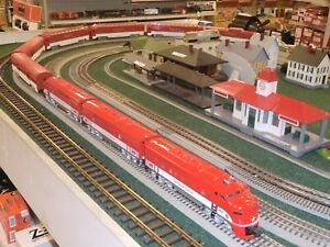 Lionel O The Texas Special F3 ABA Diesels + 6 Passenger Cars, All Custom Painted