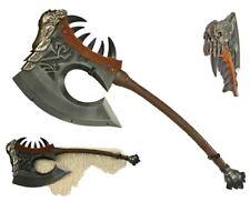 World of warcraft AXE 1:1 Gorehowl Garrosh Hellscreem w/ Fur wall mount Cosplay