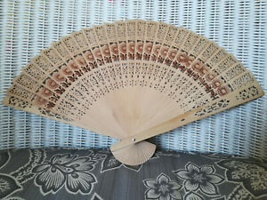 Chinese Bamboo Folding Hand Fan Wedding Party Flower Baby Shower Gift