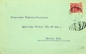 MEXICO 1915 WWI 4c ON COVER USED LOCALLY