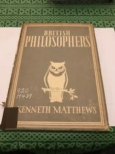 British Philosophers Kenneth Matthews 1943 Book Free Shipping