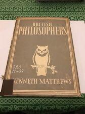 British Philosophers Kenneth Matthews 1943 Book Free Shipping