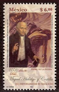MEXICO 2003 MIGUEL HIDALGO Perf. 14 error Scott 2312a mint NH CV= 350.- USD rare