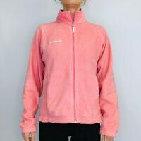 Columbia Fleece Jacket Women's Medium Pink Full Zip