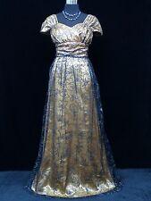 Cherlone Plus Size Gold Wedding/Evening Ballgown Formal Full Length Dress 20