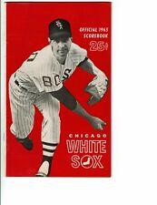 1965 Chicago White Sox vs Los ANgeles Angels Scorebook Program