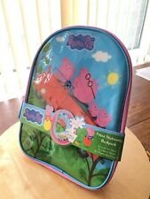 PEPPA PIG BACKPACK/BAG  WITH STATIONERY & CRAYONS