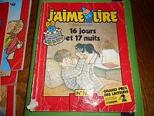 RARE!!! J'AIME LIRE N°123 16 jours et 17 nuits (1987)