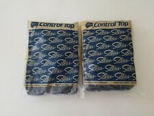 Silkies Control Top Pantyhose with Support Legs Size X-Queen Color Navy Blue 767