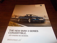 2011 BMW 3-Series Convertible 66-Page Deluxe Sales Catalog