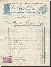 Facture - C-Barillot Chauffage economique des serres à Moulins 1900