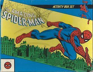 AMAZING SPIDERMAN ACTIVITY BOX SET CROSSWORDS PUZZLES GAMES 4 BOOKS NICE
