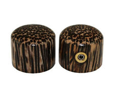 (2) Zebrawood Guitar/Bass Dome Knobs for 6mm Split Shaft Pots PK-3196-000