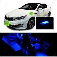 For Kia Optima w/ sunroof 2011-15 Blue LED Interior Kit + Blue License Light LED