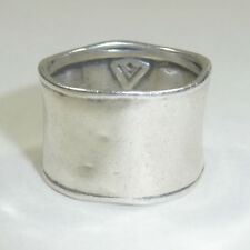 Silpada Hammered Sterling Silver Cuff Ring Size 8 R0723 Bold Wide .925