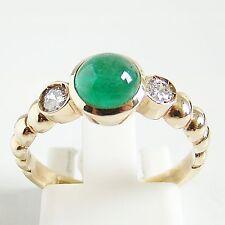 Ring Gold 585er Smaragd Brillanten Goldschmuck Damen 14 kt Diamant Edelstein