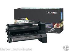 Lexmark C7700YH Yellow Laser Toner Cartridge High Yield 10K  Genuine Lexmark
