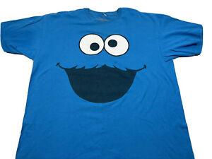 Sesame Street Cookie Monster Tshirt XXL 2009 Blue Character