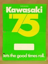 Vtg 1975 Kawasaki Motorcycle Dirt Bike Brochure G5 F11 F9 G4TR KS125 MC1 M MT1