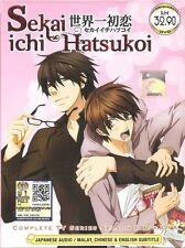 DVD Sekai Ichi Hatsukoi Season 1 & 2 (Episode 1-24 End) Boys Love Romance Anime