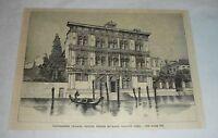 1887 magazine engraving ~ VANDRAMINI PALACE, VENICE, Italy