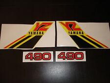 1984 YAMAHA YZ 490 GAS TANK AND SIDE PANEL DECALS AHRMA VINTAGE MOTOCROSS