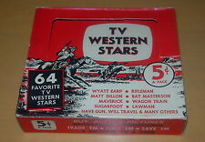TV WESTERNS STARS  NU TRADING CARDS  C. 1960  EMPTY BOX  RIFLEMAN  MAVERICK