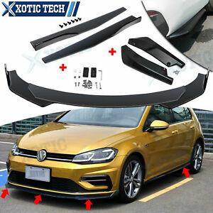 Car Bumper Lip Spoiler Splitter + Side Skirt Lip Body Extension For VW Jetta US