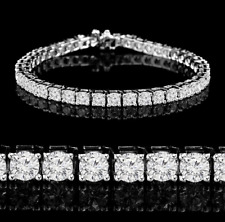 6ct D/VVS1 Diamond Bracelet Tennis 14k White Gold Over Round Cut Made Size 7""