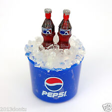 Fridge Magnet Pepi Miniature 2 Bottles on Ice Bucket Dollhouse Soda Collectible