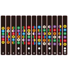 Guitar Scale Sticker Fretboard Note Strips Professional Decal Train Learner UK
