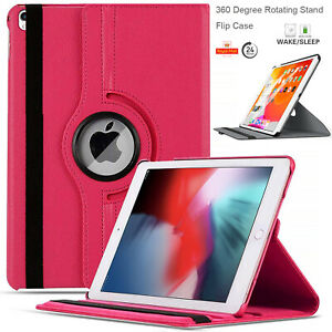 Leather Smart 360 Rotating Folio Stand Case Cover For Apple iPad 10.2 (2020-19)