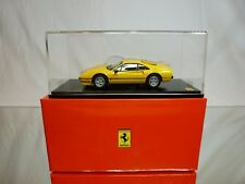KYSHO 308 GTB QUATTROVALVOLE  - YELLOW 1:43 EXTREMELY RARE - EXCELLENT IN BOX