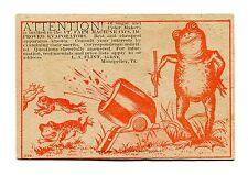 Victorian Trade Card VERMONT MACHINE EVAPORATORS Sugar Cider Maker Frog w Cannon